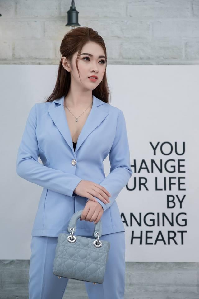 Bộ vest Mia Selena thiết kế cực tôn dáng ( Xanh dương )