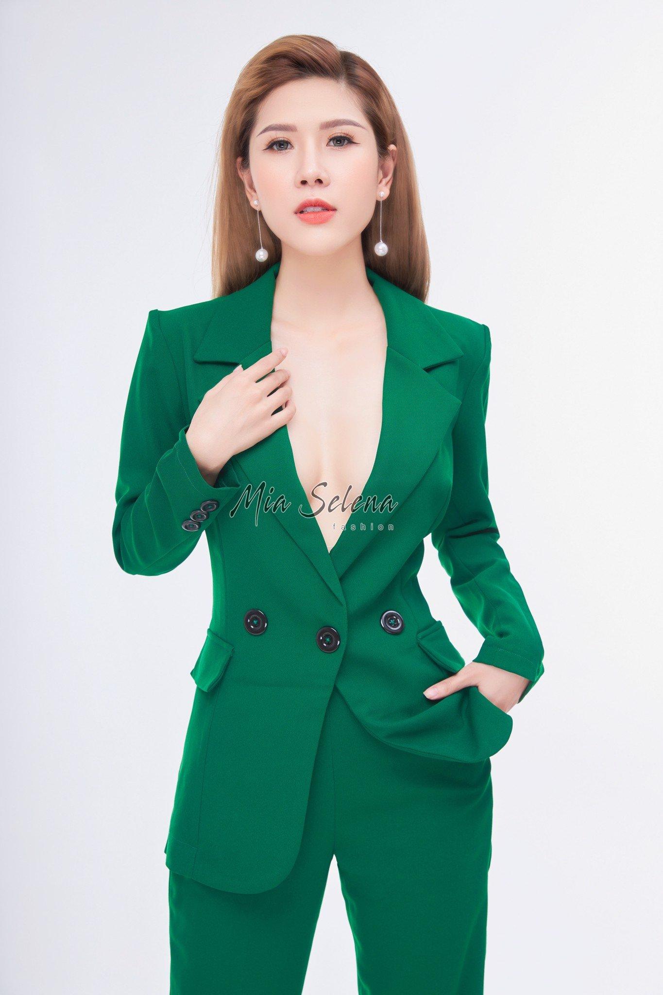 Vest nữ doanh nhân Mia Selena màu xanh lá thiết kế trẻ trung
