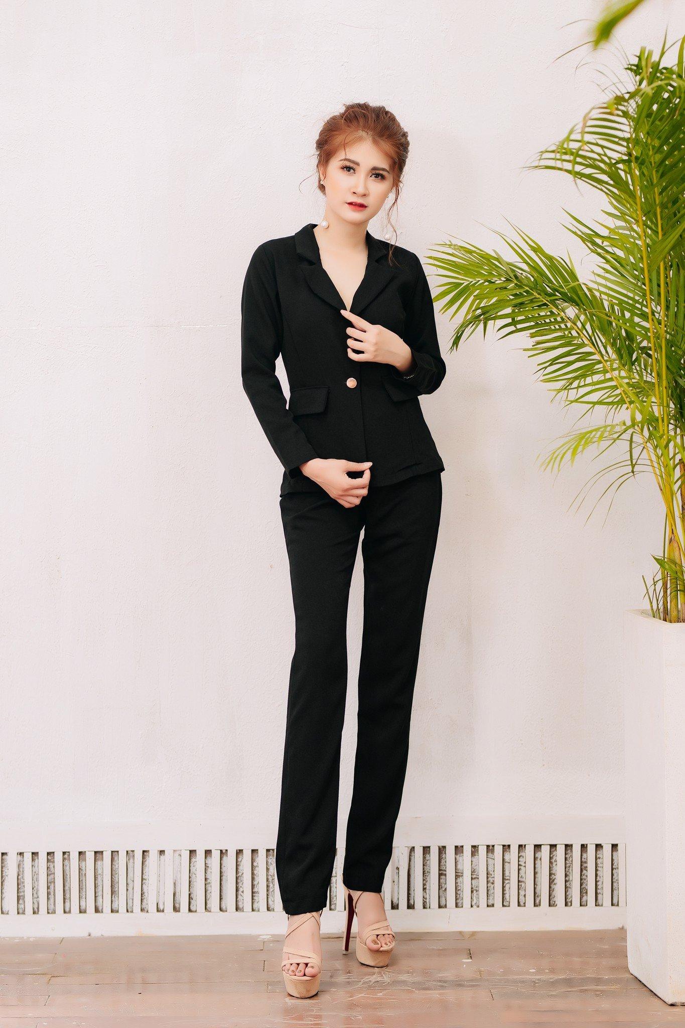 Vest thời trang Mia Selena thiết kế phong cách sang trọng ( Đen)