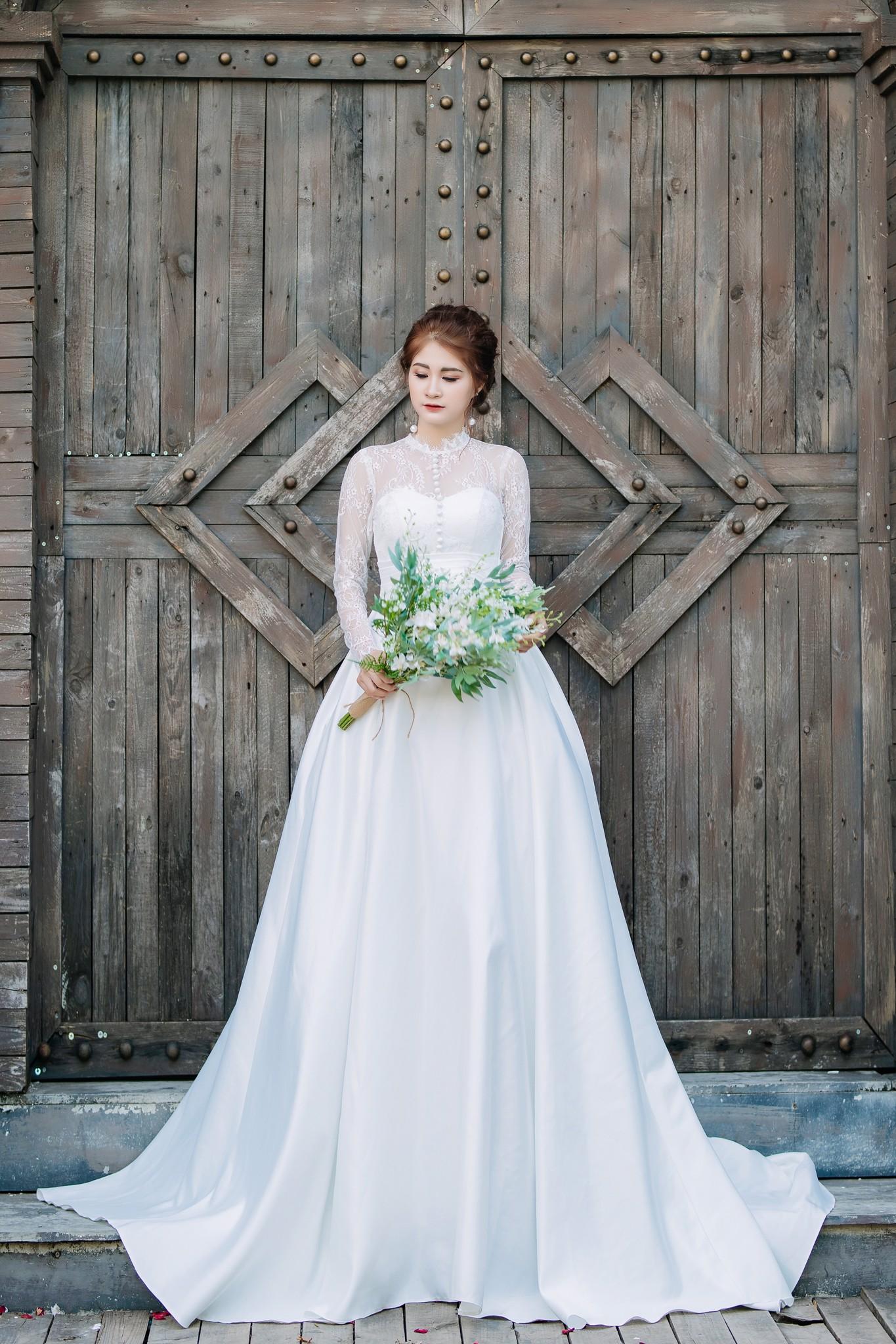 Đầm cưới trắng Mia Selena thiết kế sang trọng dễ thương (Trắng)