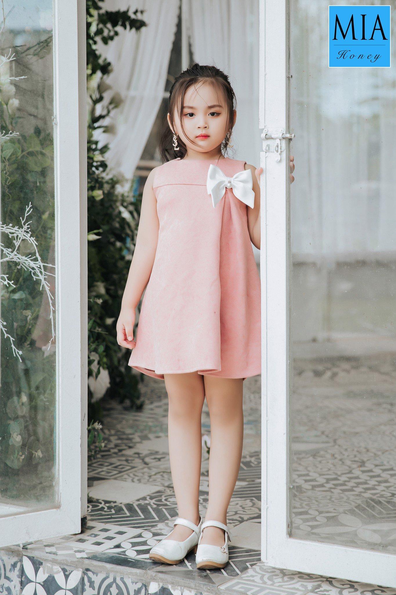 Đầm công chúa Mia Honey thiết kế dễ thương (Hồng ruốc)