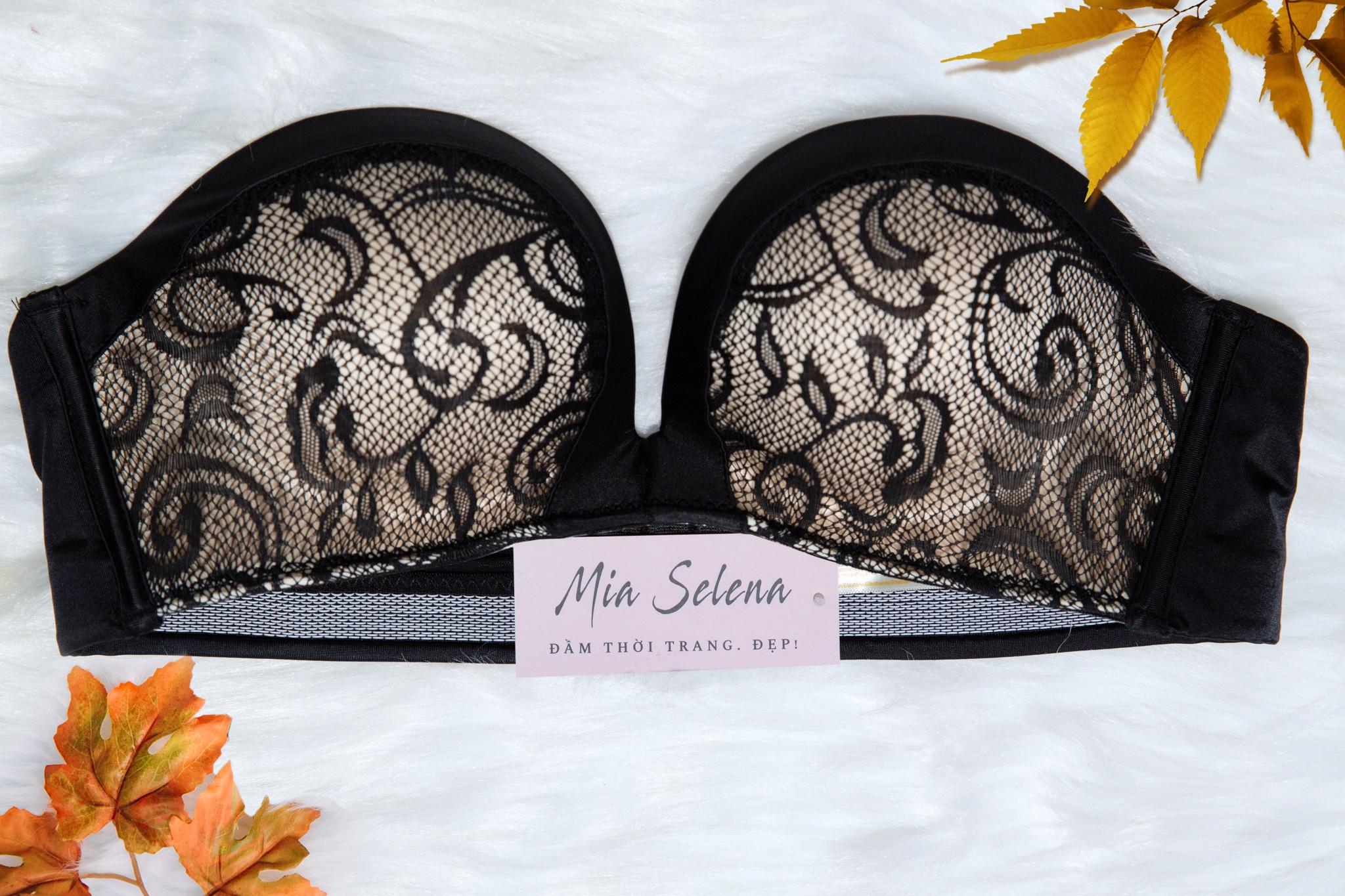 Áo ngực Mia Selena chống tuột không dây cao cấp (Đen)
