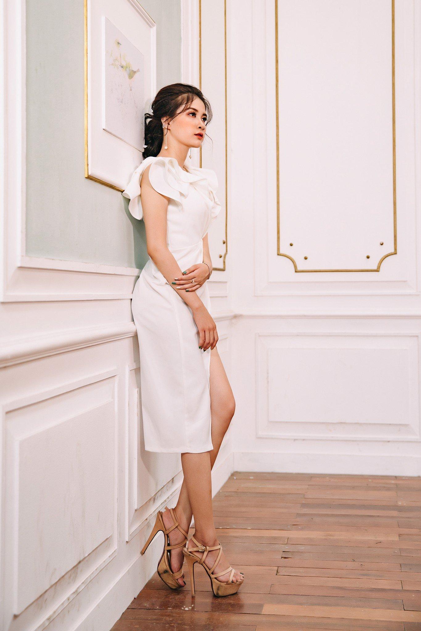Đầm dự tiệc, công sở Mia Selena thiết kế mới lạ (Trắng)