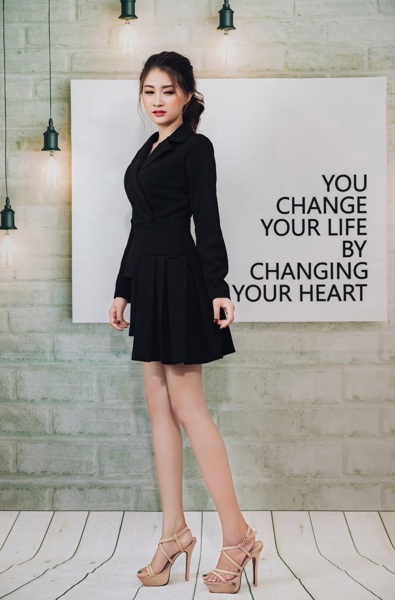 Đầm vest Mia Selena  thiết kế sang trọng ( Đen)
