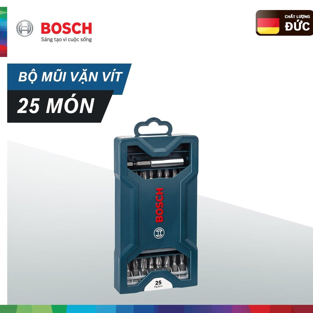 Bộ mũi vặn vít Bosch 25 món (Xanh dương)