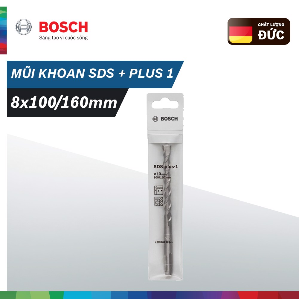 Mũi khoan Bosch SDS + plus 1 (8x100/160mm)