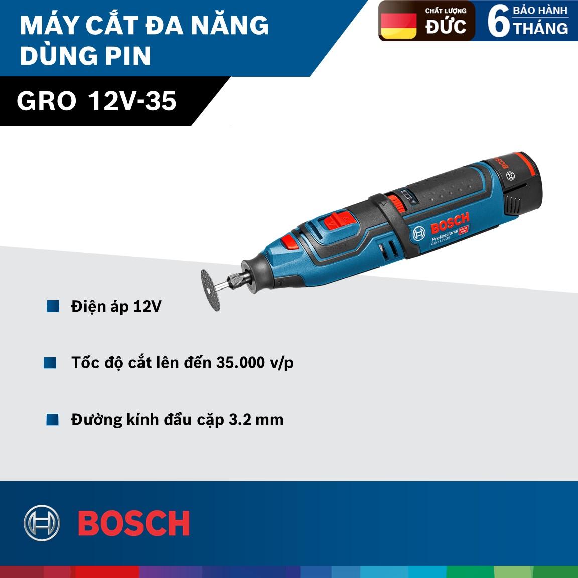 Máy cắt đa năng dùng pin GRO 12V-35 ( không pin, sạc )