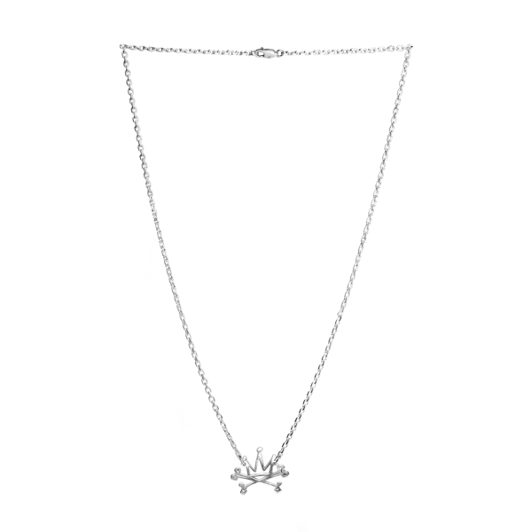 Crown Silver Necklace