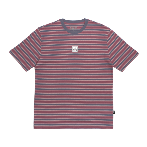 BASIC STRIPED TEE - RED