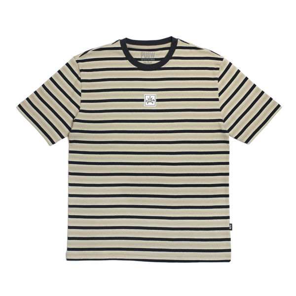 BASIC STRIPED TEE - KHAKI