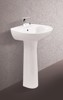 Wash basin CB103 + Long pedestal CCD152