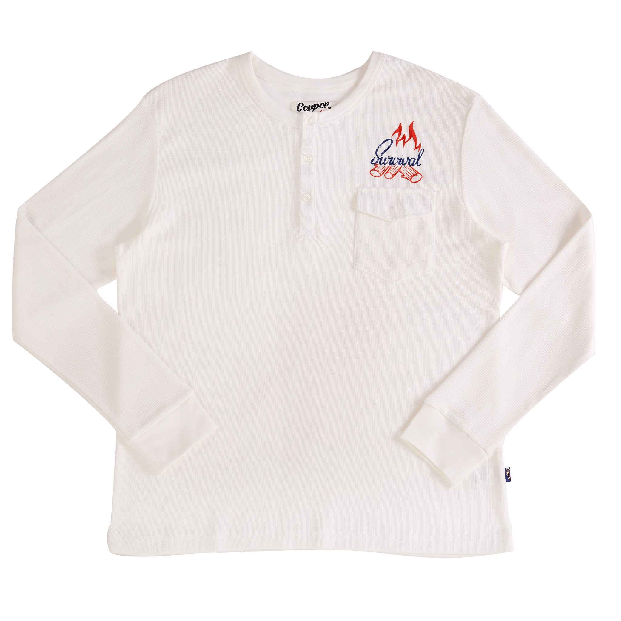 Copper Survival Snow-White Waffle Long Sleeves - Cổ Trụ