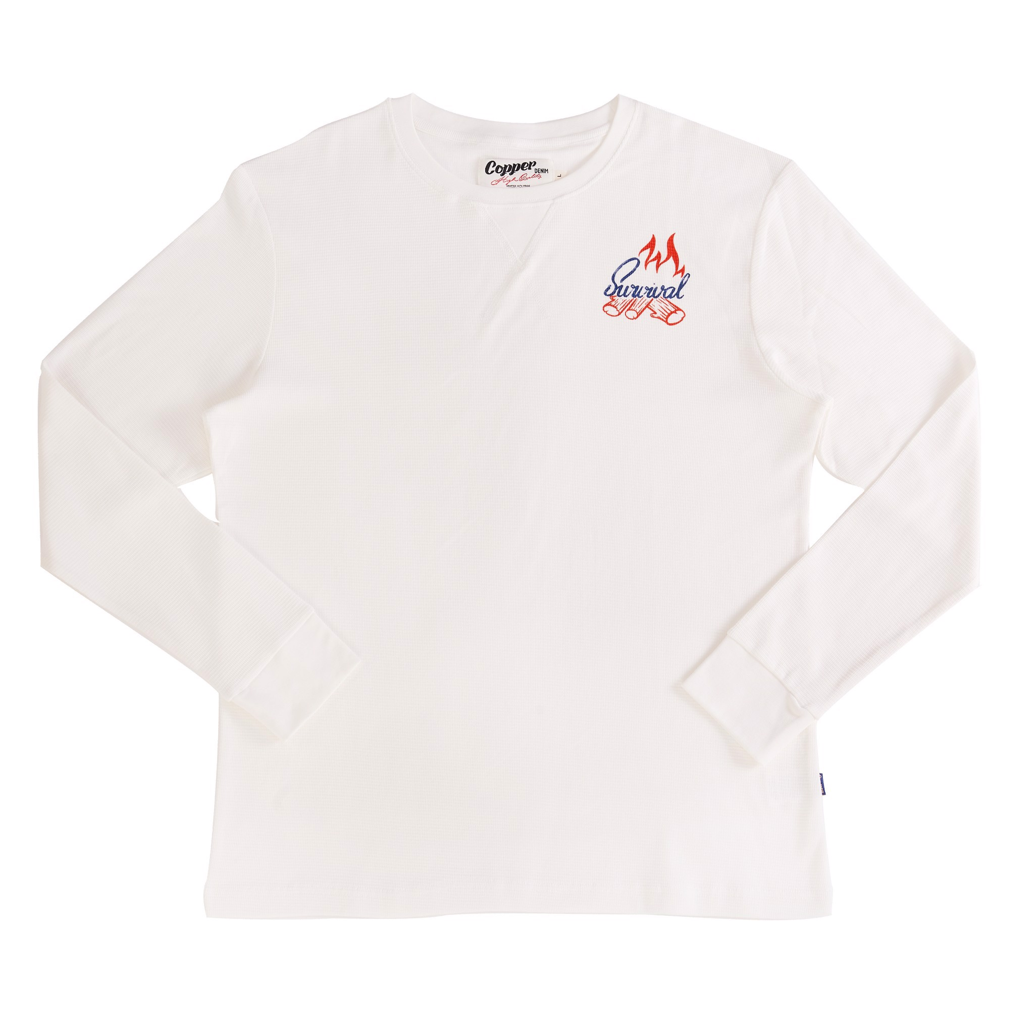 Copper Survival Snow-White Waffle Long Sleeves - Cổ Tròn