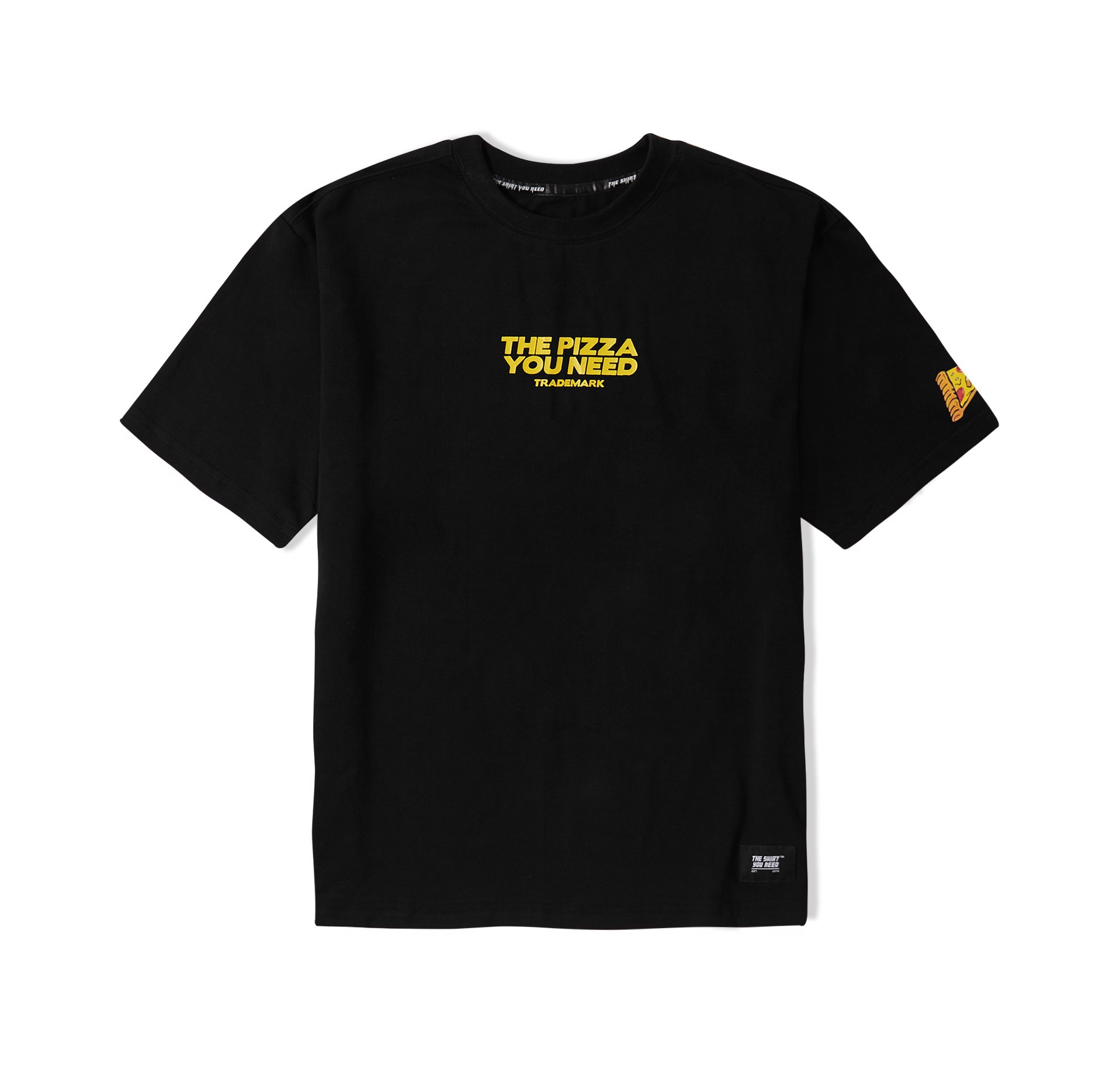 Pizza Tee 1 (Black,Yellow) (No Restock)