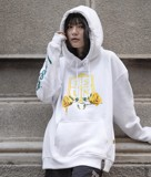 Golden Rose Hoodie/White