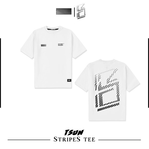 Stripes Tee (White) (No Restock)