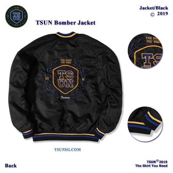 TSUN Bomber Jacket/Black
