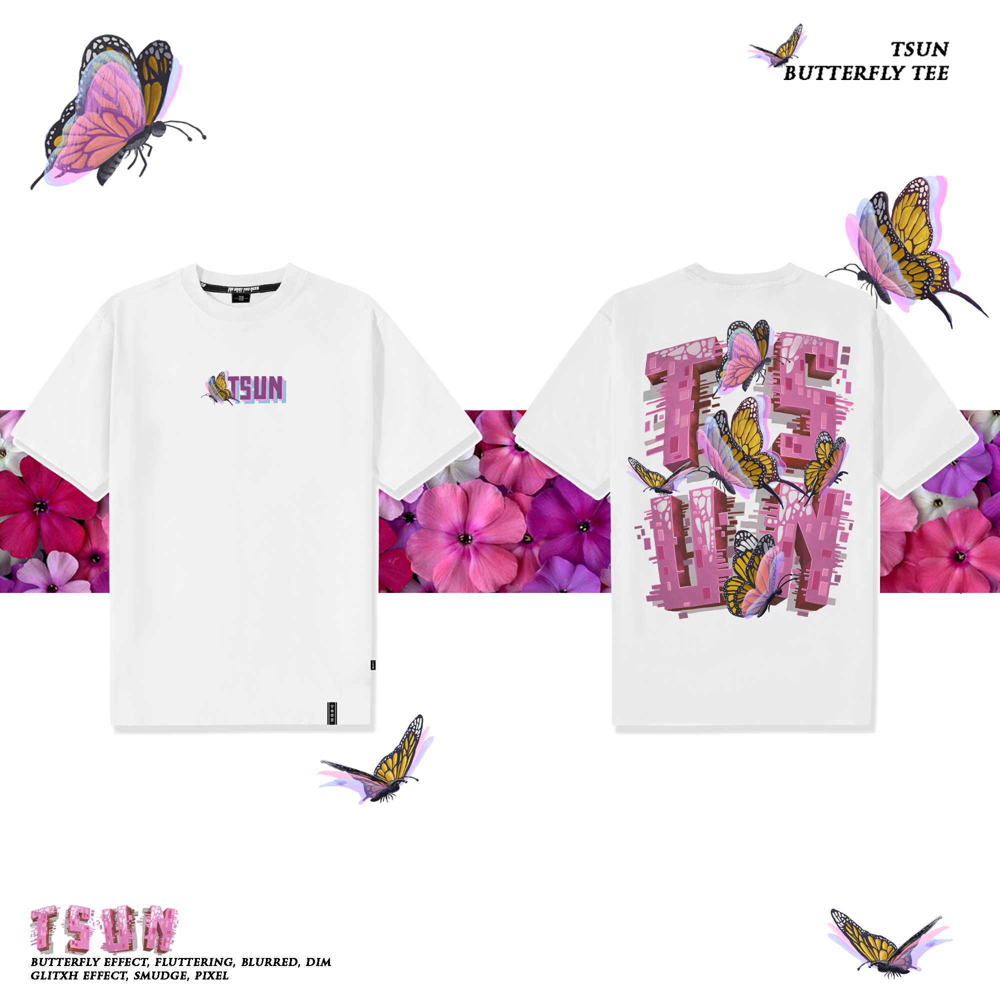 Butterfly Tee - White