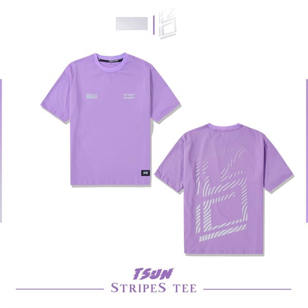 Stripes Tee (Purple) (No Restock)