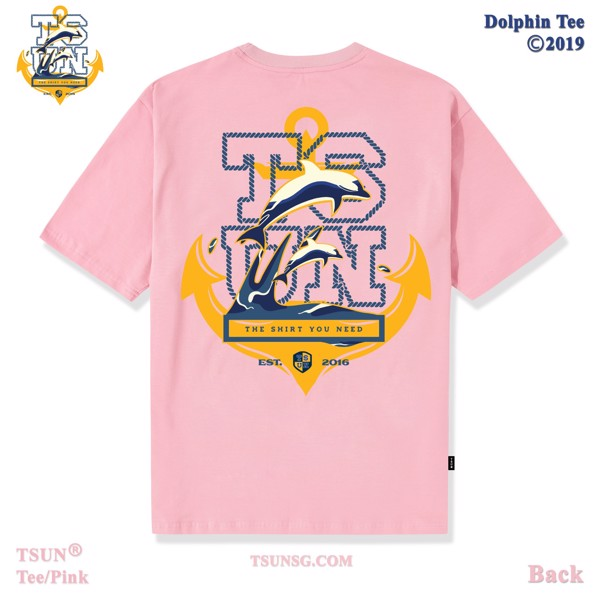 Dolphin Tee/Pink