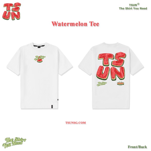 Watermelon Tee-White