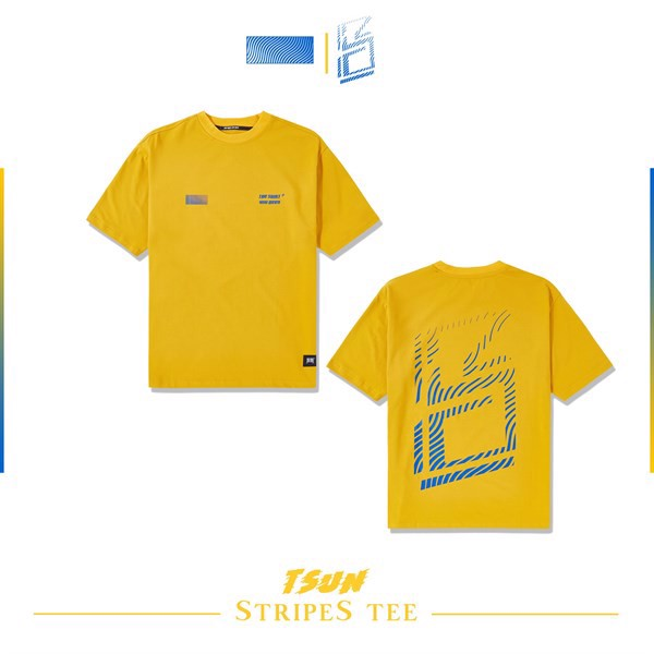 Stripes Tee (Yellow) (No Restock)