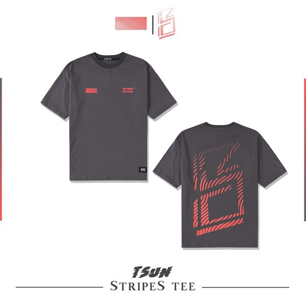 Stripes Tee (Grey) (No Restock)