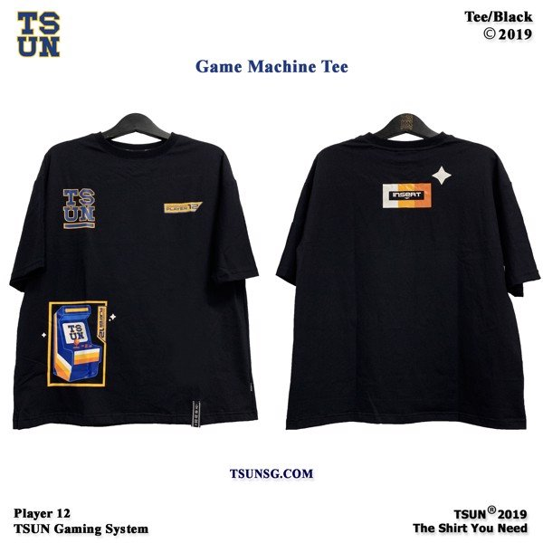 Game Machine Tee/Black