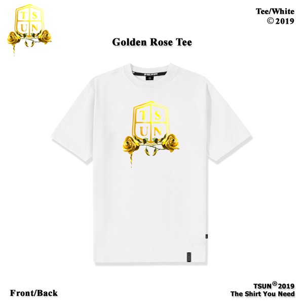 Golden Rose Tee/White