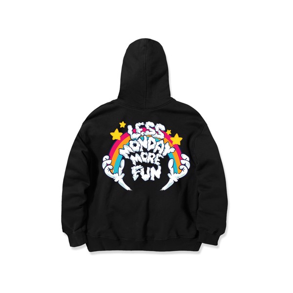 Less Monday More Fun Hoodie/Black