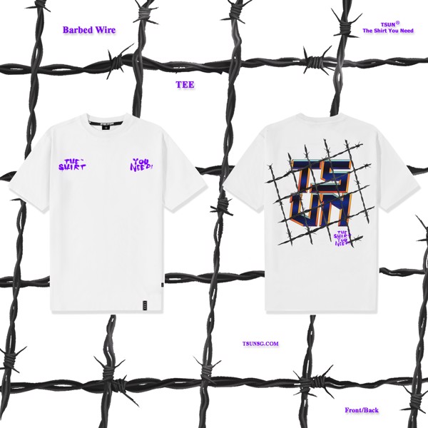 Barbed Wire Tee - White