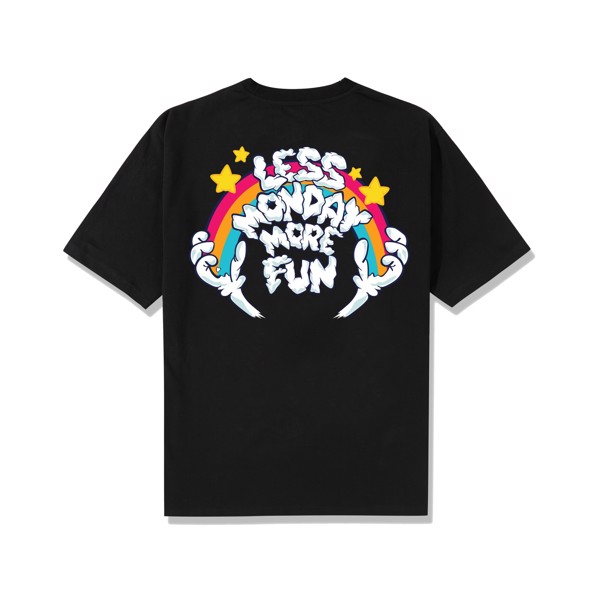 Less Monday Tee/Black