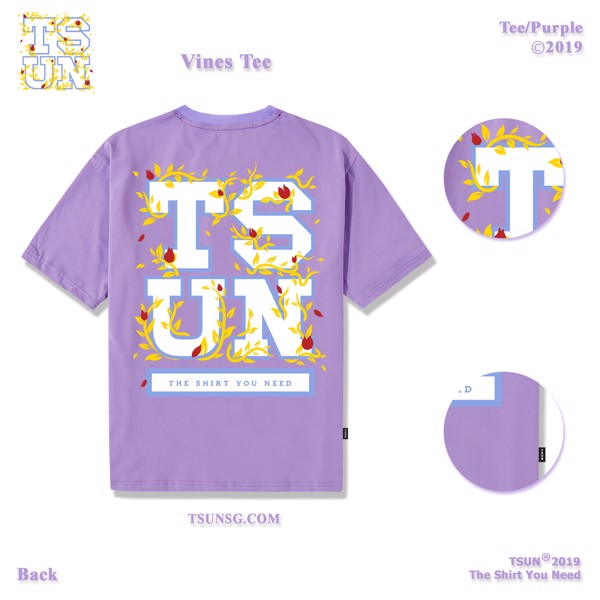 Vines Tee/Purple