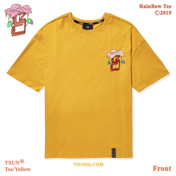 Rainbow Tee/Yellow