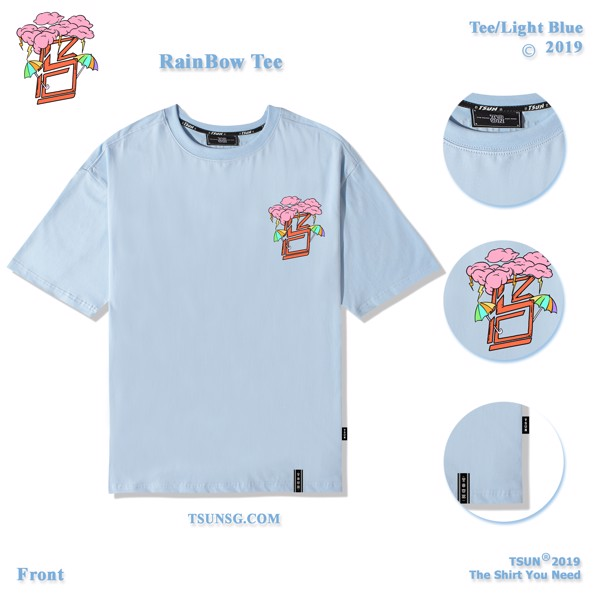 Rain Bow Tee/Light Blue
