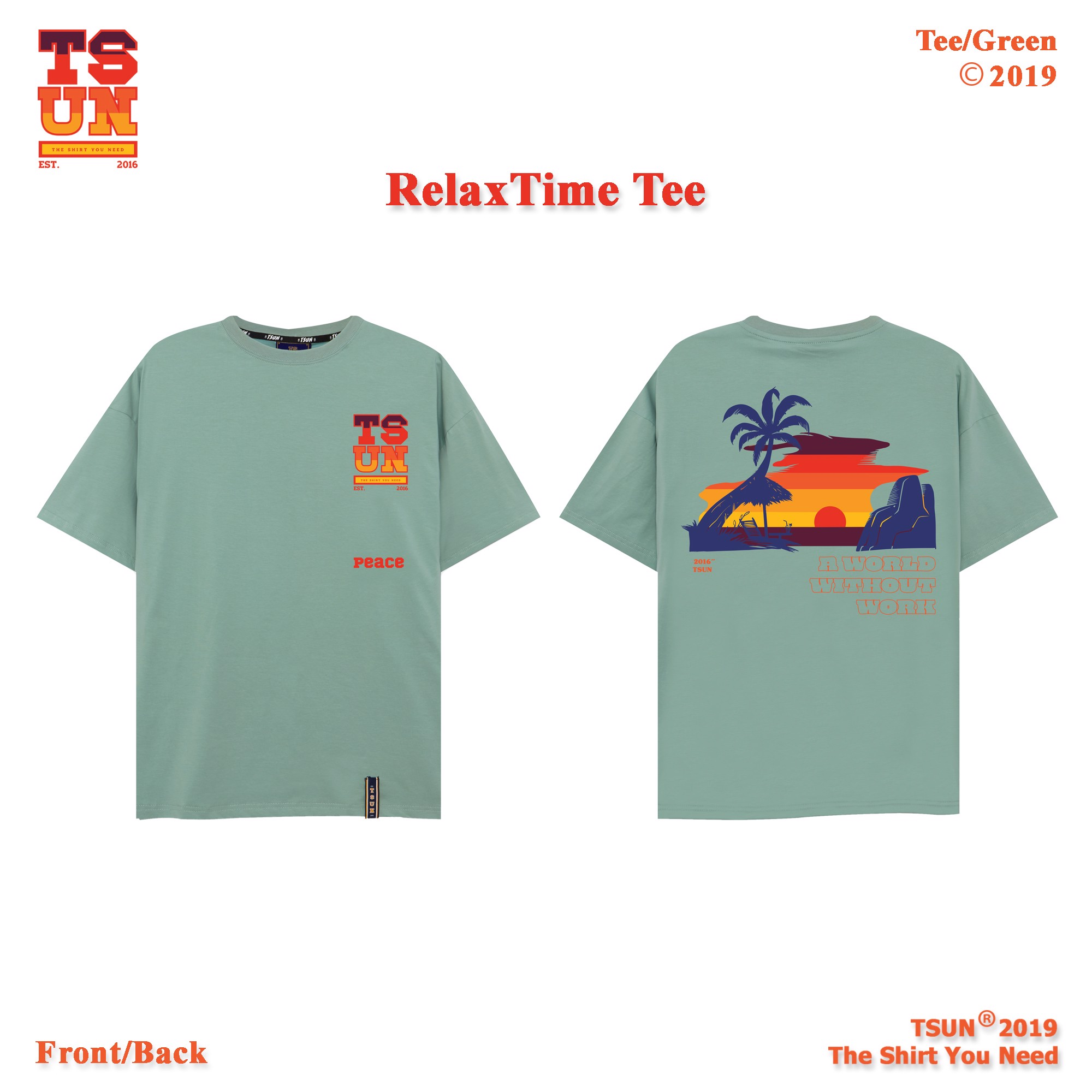 Relax Time Tee/Green