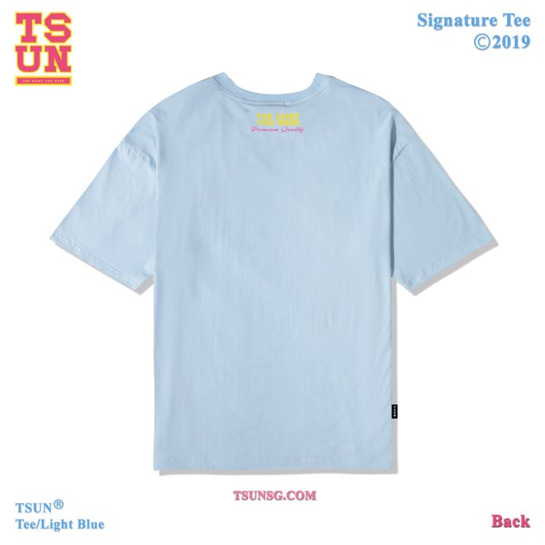 Signature Tee/Light Blue