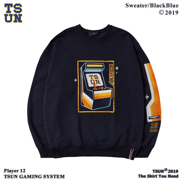 Game Machine Sweater/BlackBlue