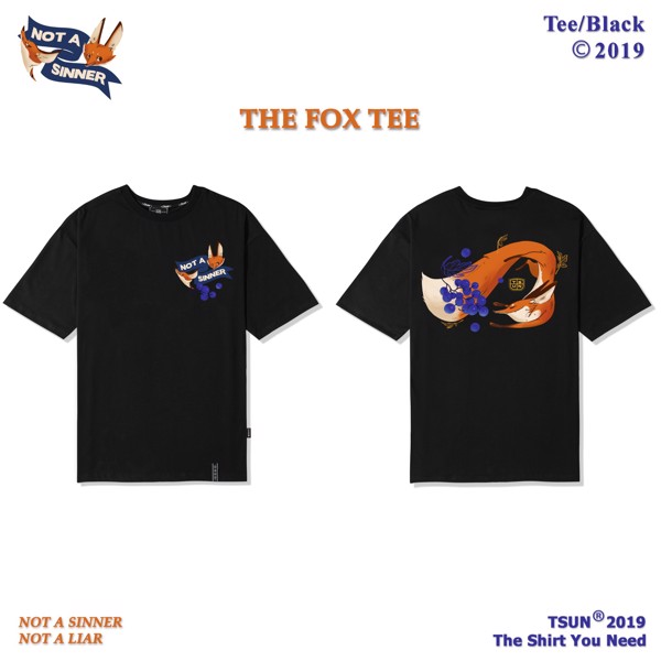 The Fox Tee/Black