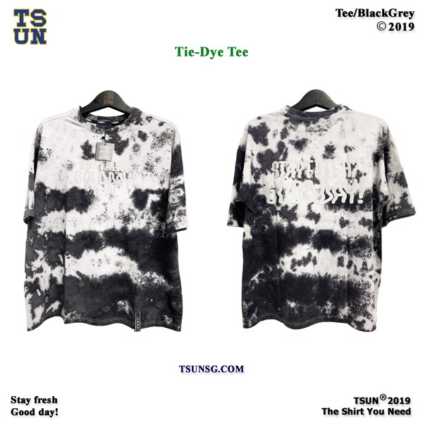 Tiedye Tee Black/Grey
