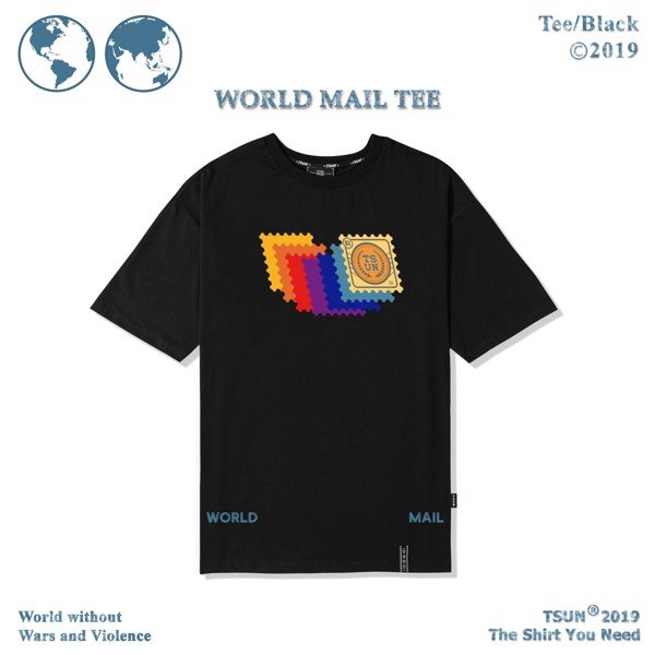 World Mail Tee/Black