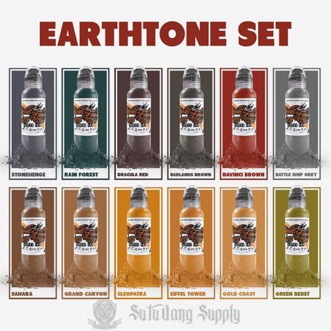 Earthtone Set 12 Màu - 1oz