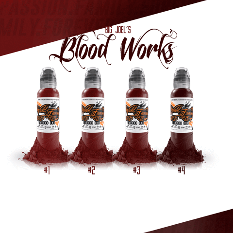 Big Joels Blood Works Color Set 4 Mầu-4oz