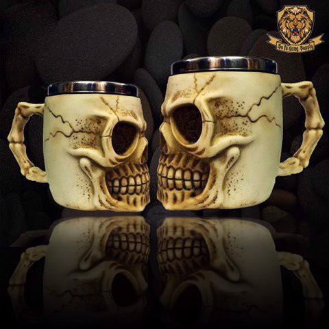 WHITE SKULL CUP