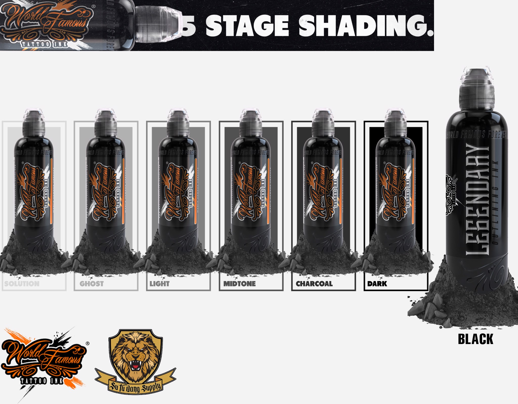 Bộ đen Legendary Black + xám Five Stage Shading
