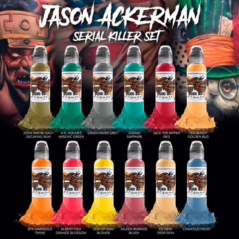 Jason Ackerman Serial Killer Set 12 Màu