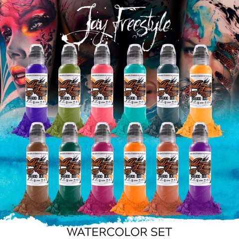 Jay Freestyle Watercolor Set 12 Màu
