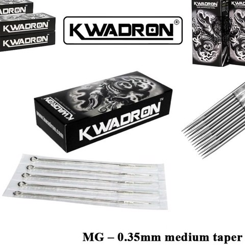Kwadron 15 MG (M1) – 0.35mm Medium Taper (Hộp 25 Cây)