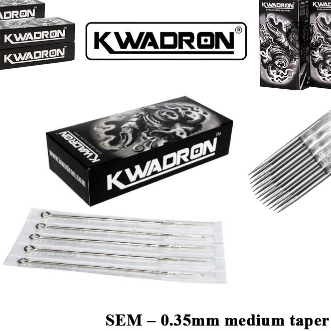 Kwadron 9 SEM (RM) – 0.35mm Medium Taper (Hộp 50 Cây)