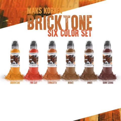 Maks Kornev's Brick Tone Color Set 6 Mầu-1oz